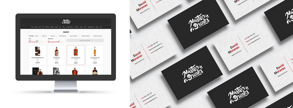 Brand identity for Master Drinks