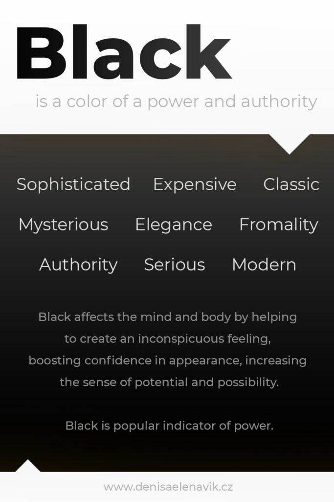 Psychology and meaning of Black Color
