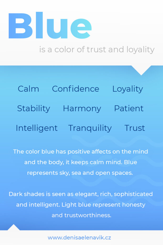 Psychology and meaning of Blue Color