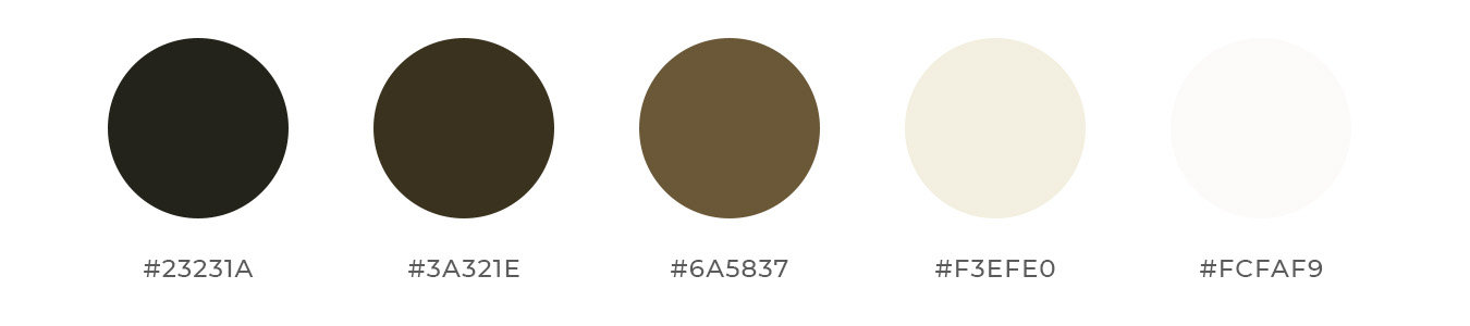 Brown color palette