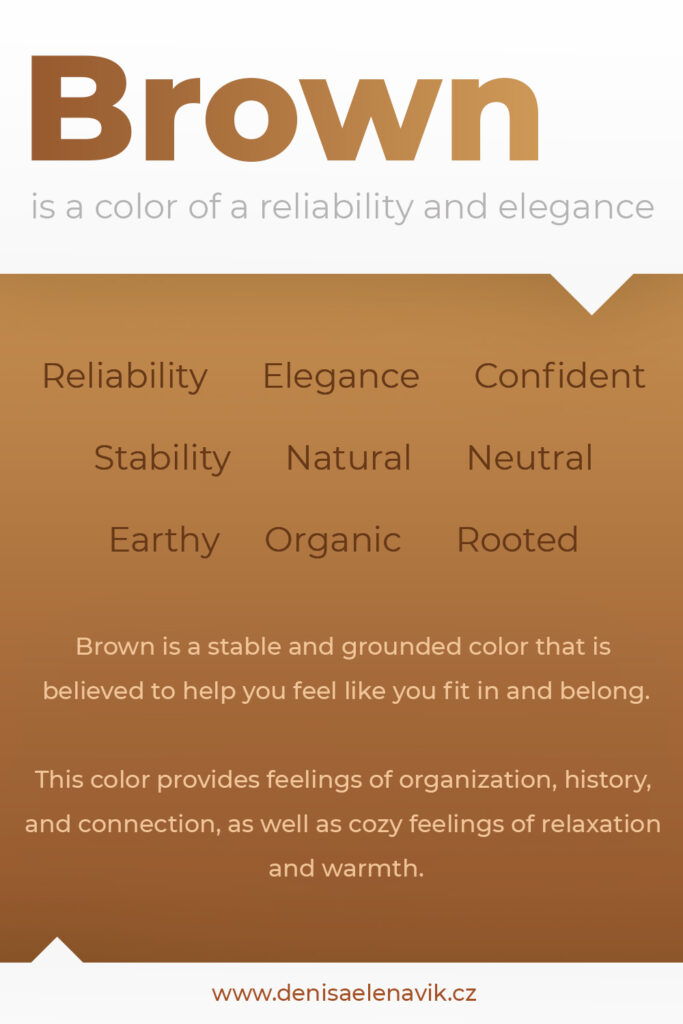 Psychology and meaning of Brown Color
