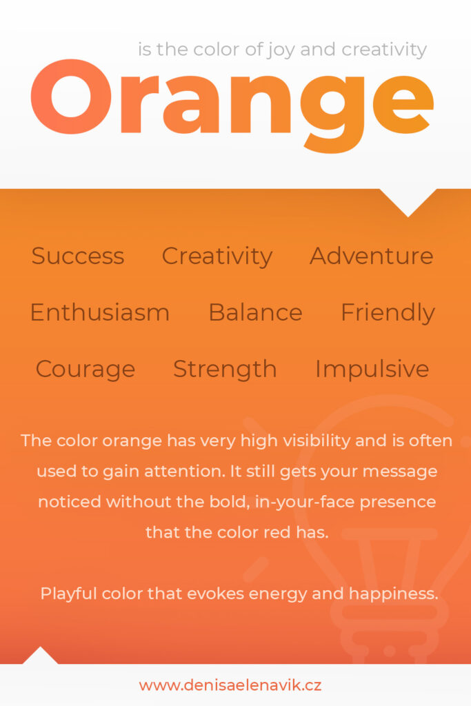 Psychology and meaning of Orange Color