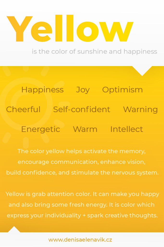 Psychology and meaning of Yellow Color